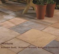 TRADITIONAL OLD RIVEN AUTUMN BRONZE PAVING